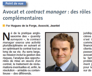 Avocat et contract manager contract management